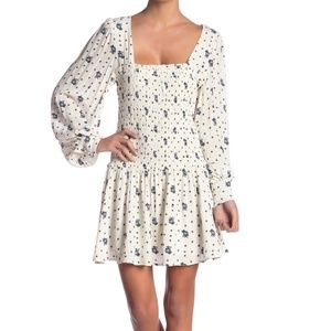 Free People Two Faces Print Mini Dress